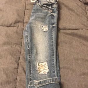 Justice mid rise super skinny sz 6 jeans